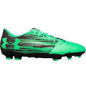 Under Armour Mens Spotlight DL Firm Ground Football Soccer Boots - Black Green