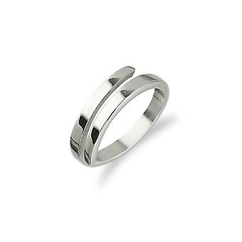 Sterling Silver Traditional Scottish Simply Stylish Cross Over Design Ring