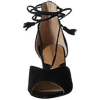 Adrienne Vittadini Kadın Marcey Süet Peep Toe Casual Platform Sandalet