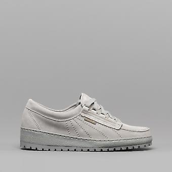 Mephisto Velourlady Ladies Suede Originals Shoes Light Grey