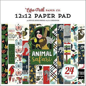Echo Park Animal Safari 12x12 Inch Paper Pad