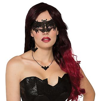 Bristol Novelty Unisex Adults Bat Lace Mask