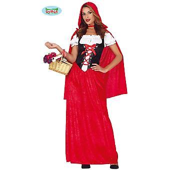 Traje de capa de fada da capa de equitação vermelha pequena roupa da capa de equitação pequena das mulheres
