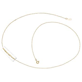 14k Yellow Gold Rope Chain Pendant Necklace 13 Inch
