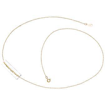 14 k желтое золото веревку кулон ожерелье цепь - 13 дюймов