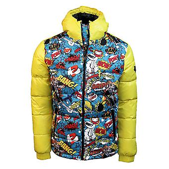 Top Gun Comics Down Jacket Yellow