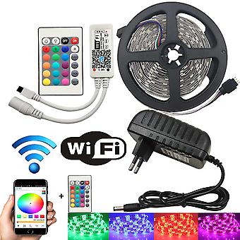 5Meter RGB Multicolor LED Streifen mit WiFi-Funktion - IP65 - 5050 60 LED/m