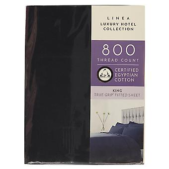 Hotel Collection Unisex 800TC Navy Fitted Sheet