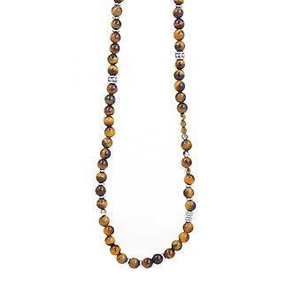 Collier et pendentif Les Interchangeables A60205   - Sautoir Bobo Chic Oeil du Tigre Femme