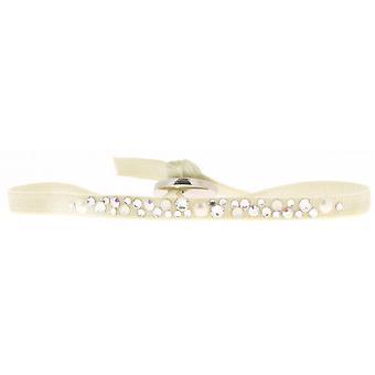 Bracciale intercambiabile A36647 - cristalli di tessuto Beige donna Swarovski bracciale