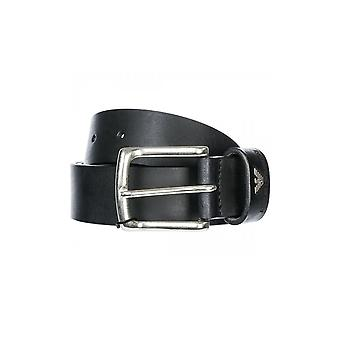 Emporio Armani Leather Black Belt