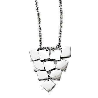 Stainless Steel Fancy Lobster Sluiting Multi vierkante gepolijste ketting 18,5 inch sieraden geschenken voor vrouwen