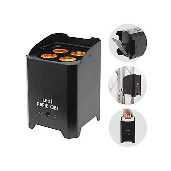 LEDJ Ledj Rapid Qb1 Rgba Battery Powered Led Par - Black