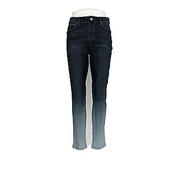 Laurie Felt Women's Jeans Silky Denim Ombre Skinny Pull-On Blue A305690