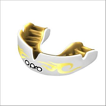 Opro power fit bling urban mouth guard white/gold