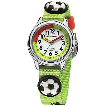 JACQUES FAREL Kids Polshorloge Analog Quartz Boys Titanium KTI 10FT Voetbal