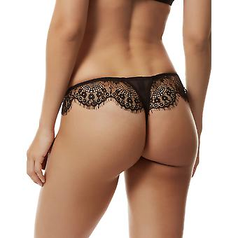 Bluebella 40164 Women's Marina Black Lace Panty Thong