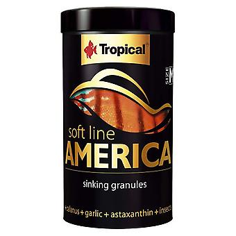 Tropical 67424 Soft Line America M 250 ml (Fish , Food , Warm Water)