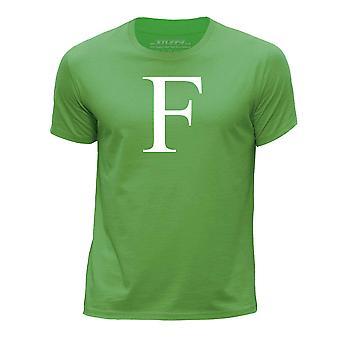 STUFF4 Boy's Round Neck T-Shirt/Alphabet Letter Initial F/Green