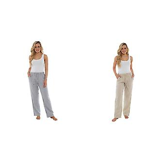 Indigo Roc Ladies/Womens Linen Trousers