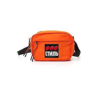 Heron Preston Hmna011f198160041088 Men's Orange Nylon Pouch