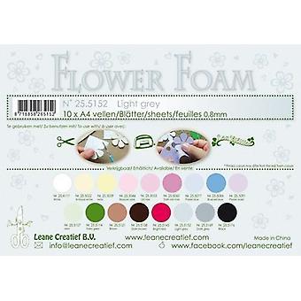 Leane Creatief Hojas de espuma de flores A4 gris claro