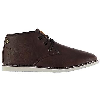 Soviet Mens W Chapel Mid Boots Chukka Padded Insole Lace Up Casual Footwear