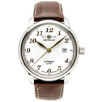Count Automatic Analog Man Watch with Cowhide Bracelet 7656-1