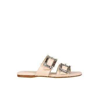 Anna Baiguera Ezgl238018 Donne's Sandali di tessuto rosa