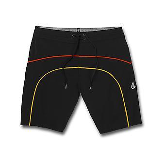 Volcom Rainbow Brdg Stoney 19 Mid Length Boardshorts in Black