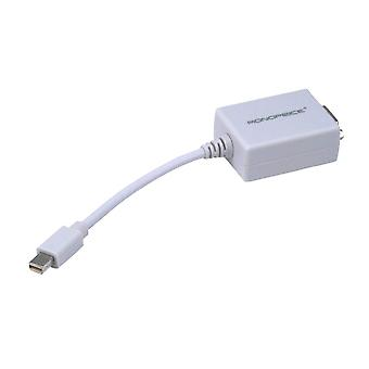Mini DisplayPort 1.1 to VGA Adapter - White, Passive Adapter, Requires No Additional Power by Monoprice