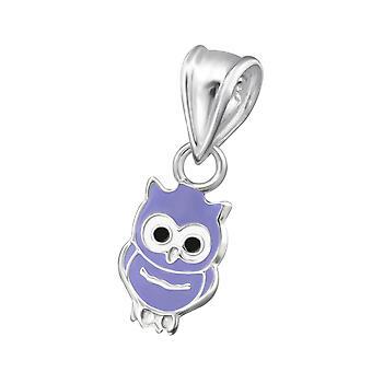 Owl - 925 Sterling Silver Pendants - W20709x