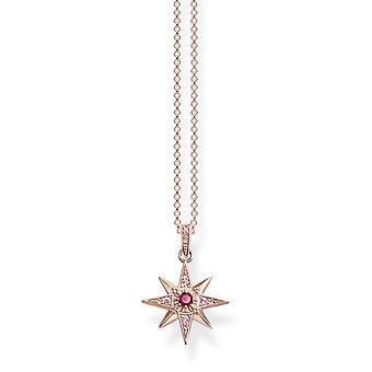 Thomas Sabo rot Rose Gold Stern Halskette