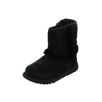 UGG Hadley II WP Kids Girls Boots Black Lace-Up Boots Inverno