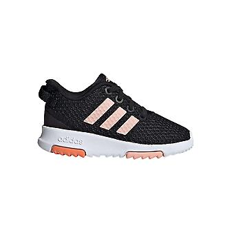 adidas Racer Infant Kids Girls Fashion Trainer Schoen Zwart /Roze