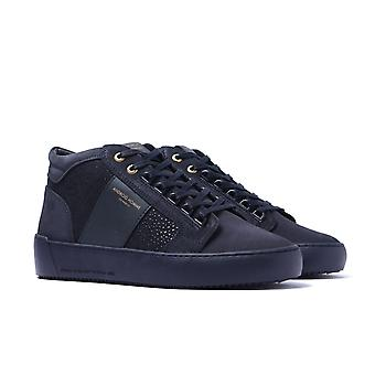 Android Homme Propulsión Mid Navy Stingray Suede Trainers