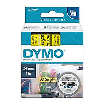 Dymo D1 Blk On Yell 24 Mm x 7 M Bande