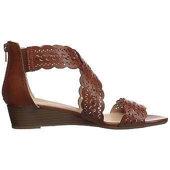 XOXO Women's Ambridge Wedge Sandal, Black, 7.5 M US
