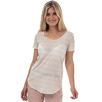Frauen's Vero Moda Sanne Lua Streifen T-Shirt in weiß