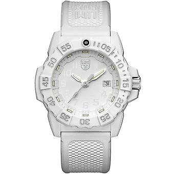 Luminox Navy SEAL Quartz White Dial Rubber Strap Men's Watch XS.3507.WO