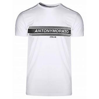 Antony Morato Vit Tryck Logo T-Shirt