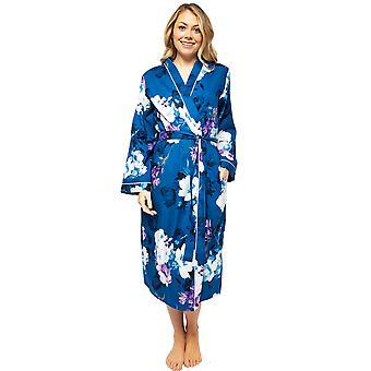 Cyberjammies Eliza 4541 Women's Blue Mix Floral Print Long Robe