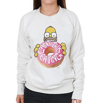 Los Simpson cant Talk Eating Women's Sweatshirt