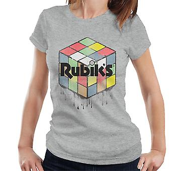 Rubiks urbana kub dam T-shirt