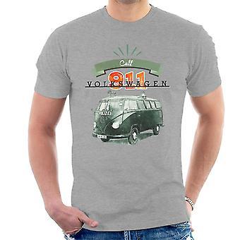 Volkswagen Call 911 Polizei Camper Men's T-Shirt