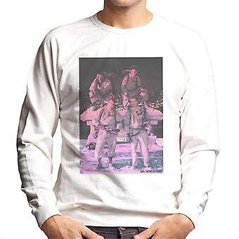 Ghostbusters Crew Pink Photo Men's Sweatshirt