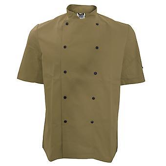 Dennys unisexe veste courte de manchon Stud bouton Chef (Pack de 2)