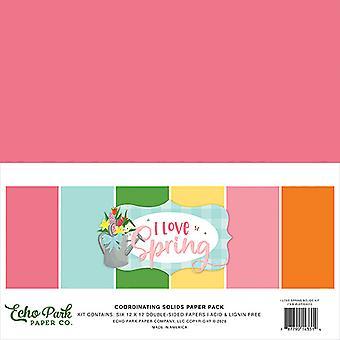 Echo Park I Love Spring 12x12 Tuuman Kiinteä Paperipakkaus