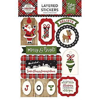 صدى بارك ملصقات عيد الميلاد الطبقات الكمال