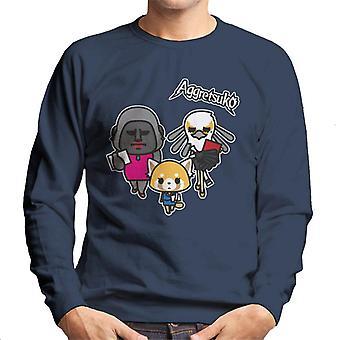Aggretsuko Retsuko avec collègues Men's Sweatshirt